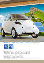 Brochure cover: IECEE - Batteries, chargers and charging stations