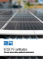 Brochure cover: IECEE PV certification
