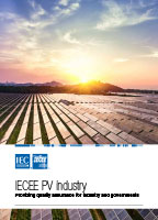Brochure cover: IECEE PV industry