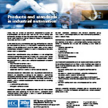 Flyer cover: IECEE: Products and standards in industrial automation