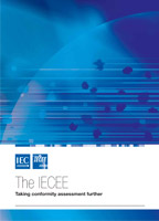 Brochure cover: IECEE. Taking Conformity Assessment Further